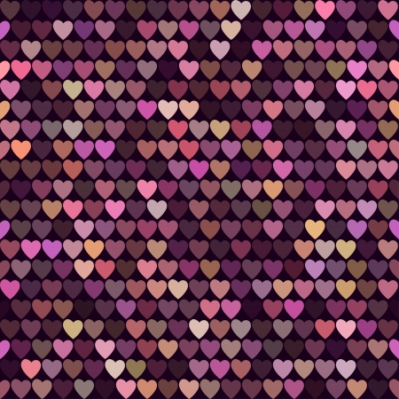 colorful bright background with hearts Valentine's Day Vector