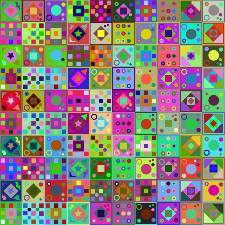 vector illustration of patchwork style. Cheerful bright background for your design Stock Vector - 24910607