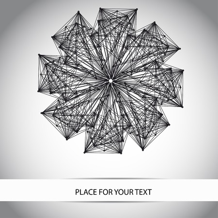 geometry flower for your design. Place for your text Vector