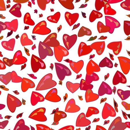 seamless pattern with colors hearts Vector