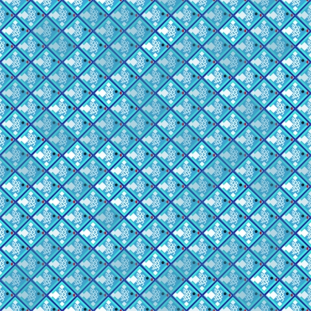 tessellation structure: abstract print pattern with fishes