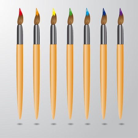 collection of colors brushes Vector