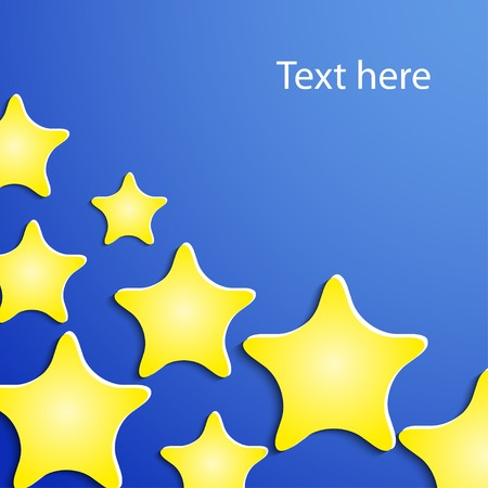 blu: background with paper stars