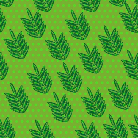 frondage: seamless pattern with leaves.  Illustration