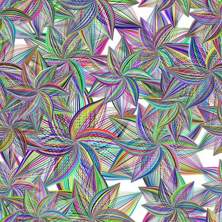 trendy tissue: Seamless pattern. Floral stylish background. Illustration