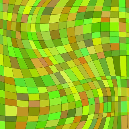 deformation: abstract background with deformation squares. Illustration