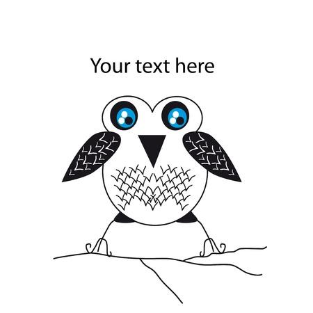 fictional: Cartoon bird for print. Cool character Illustration