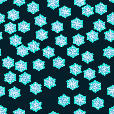 winter seamless texture with snowflakes. Used in the pattern by clipping mask.  Vector