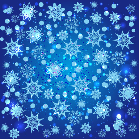 abstract background with snowflakes Vector