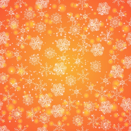 winter background texture with snowflakes. Used in the pattern by clipping mask. Vector