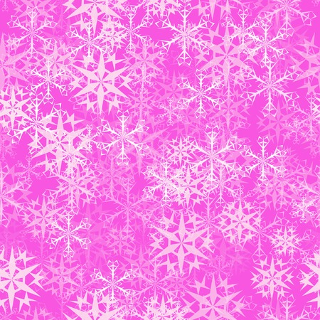 abstract seamless pattern with snowflakes. With clipping mask. Vector