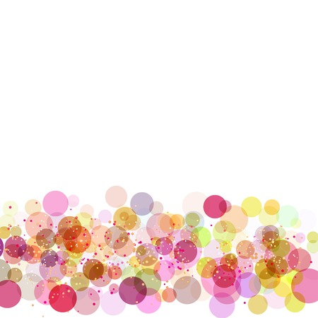 Frame with colors circles Vector