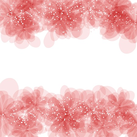 Gentle frame with pink flowers Vector