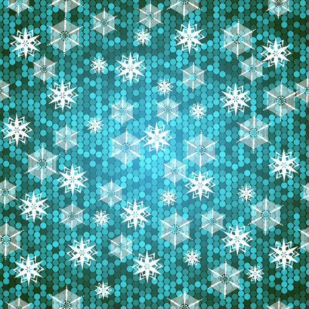 abstract background with snowflakes. With clipping mask. Vector