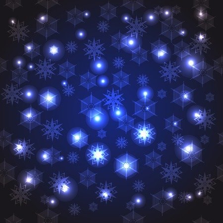 abstract light seamless pattern with snowflakes. With clipping mask. Vector