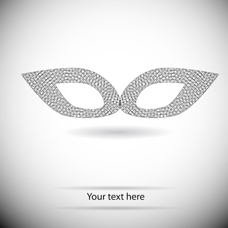 arcanum: black and white geometry mask for text