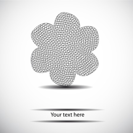 polyhedron: black and white geometry flower for  text