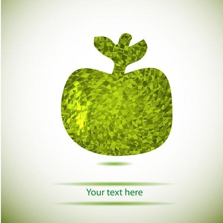 stilish: abstract stilish geometry green apple Illustration