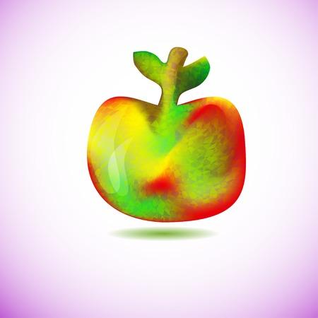 stilish: abstract stilish geometry colors apple