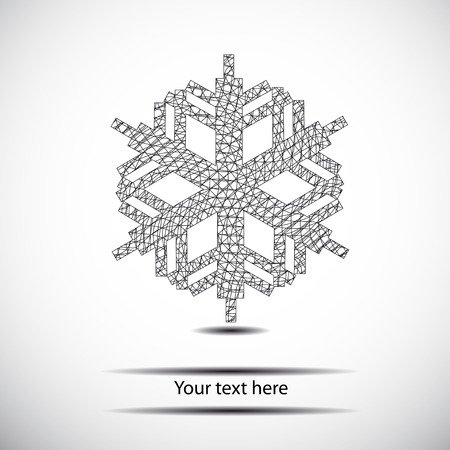 abstract black geometry snowflake Vector