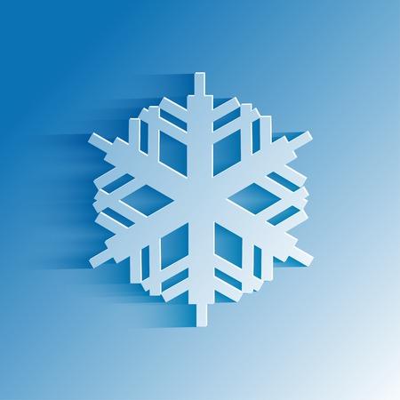 fiambres: copo de nieve resumen en el estilo de papel para el diseño Vectores