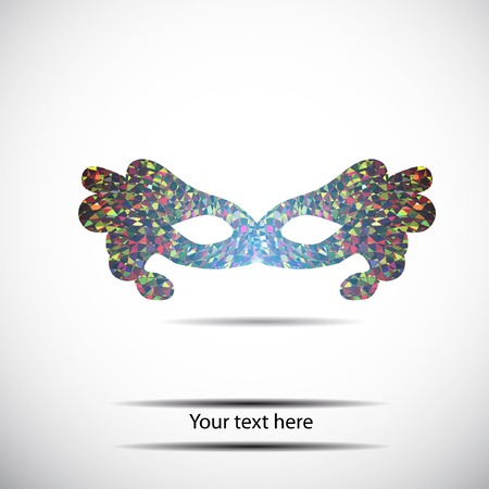 arcanum: color geometry mask for  text. Vector template