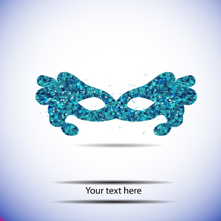 blue geometry mask for text. Vector template Vector