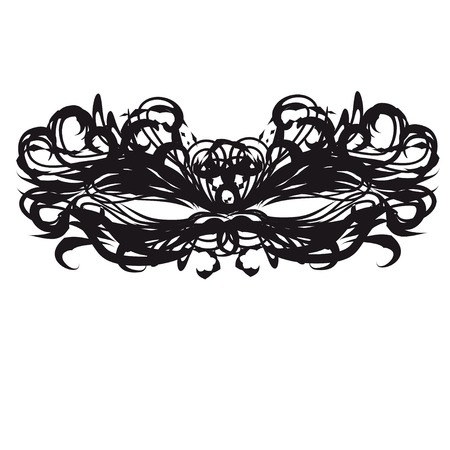 arcanum: black mask. Vector template