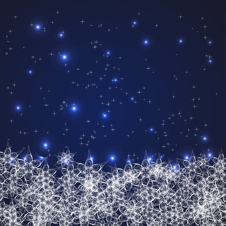 abstract frame with snowflakes. With clipping mask. Vector