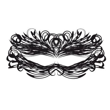 masquerade mask: black mask. Vector template