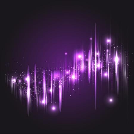 Digital light Equalizer. Vector illustration, template for your design Vector