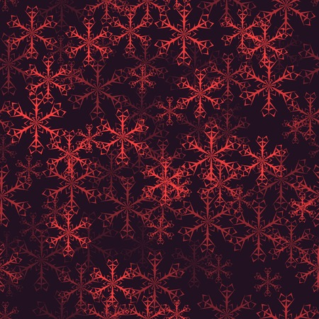 desember: seamless with snowflakes. With clipping mask