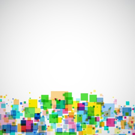 frame with colors squares Vector