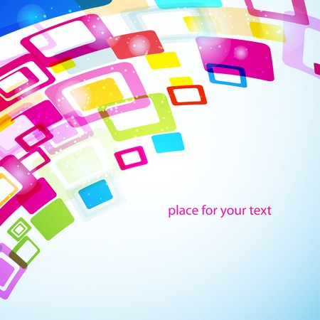 busines: abstract geometry background with squares. Vector template for your design or busines presentation