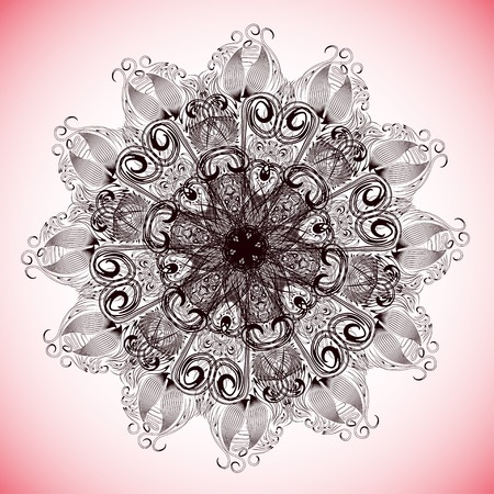 floret: abstract lacy flower or snowflake