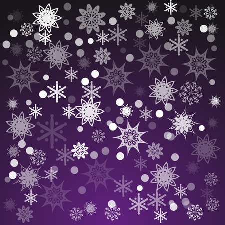desember: abstract pattern with snowflakes. With clipping mask. Illustration