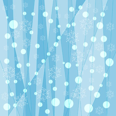 winter range: abstract winter simple background with geometric effect, snowflakes and circles
