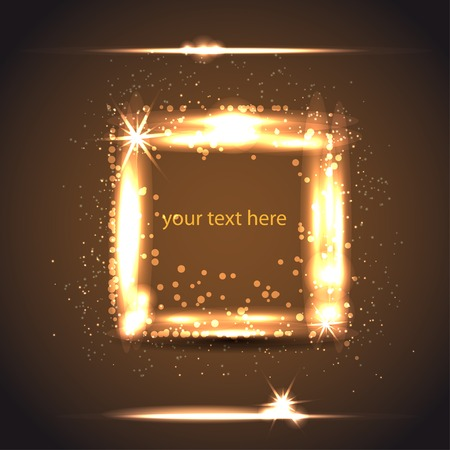 light gold frame from square Vector