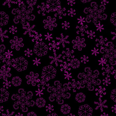 desember: basis under the winter black background with pink snowflakes. Christmas seamless