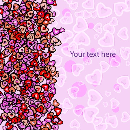 st  valentine's: abstract colorful frame for your text for St. Valentines Day Illustration