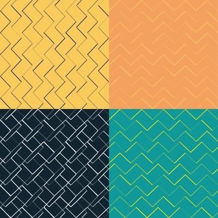 simple geometry: set of simple geometry seamless textures Illustration