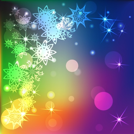 winter colors: winter colors background with snowflakes