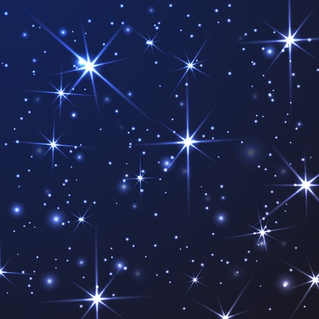abstract light background with stars