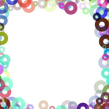 simple frame with colors bagels Vector