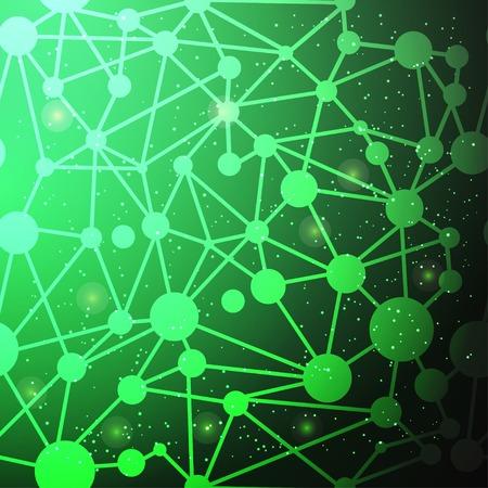 geometri: Yeşil geometri desen Çizim