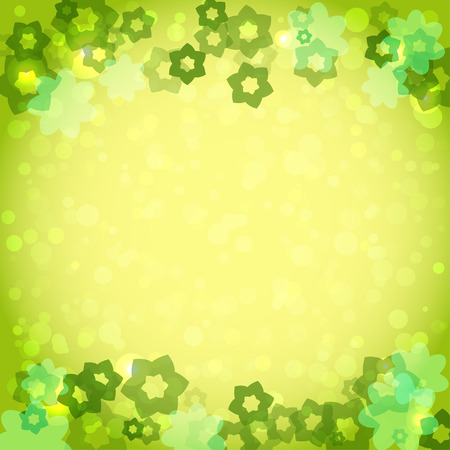 light backround: abstract green framework with flowers for your design. Summertime vector