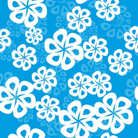 seamless floral: simple seamless floral pattern Illustration