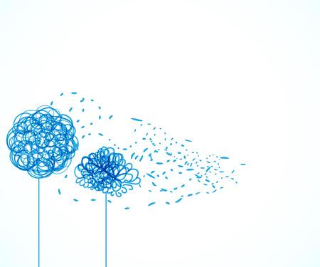 swirl floral vertical background for your design Illustration