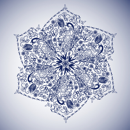 lacy: abstract lacy flower or snowflake