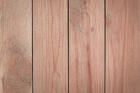 Brown wooden background with vertical boards. Natural wood texture. 写真素材